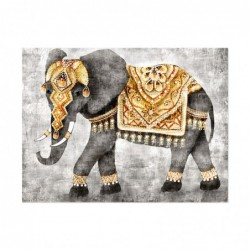 Cuadro Bastidor de Madera Elefante 60x80 cm