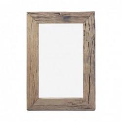 Espejo de Pared Rectangular Madera 100x70 cm