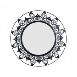 Espejo de Pared Redondo Floral Metalico 50 cm