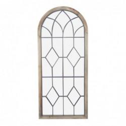 Espejo Grande de Pared Decorativo Ventana Madera 163 cm