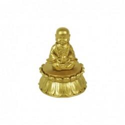 Figura Decorativa Caja Monje Budista Resina 10 cm