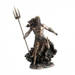 Figura Decorativa clasica POSEIDON-DIOS DEL MAR Resina 31 cm