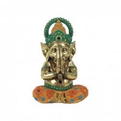 Figura Decorativa Ganesha Yoga Resina 22 cm