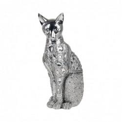 Figura Decorativa Gato Gris Resina 31 cm