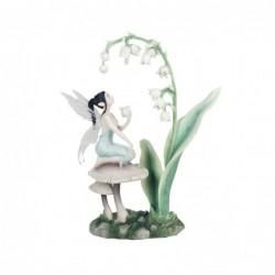 Figura Decorativa Hada Lirio Resina 28 cm