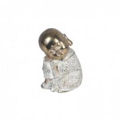 Figura Decorativa Monje Budista Resina 11 cm