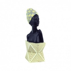 Figura Decorativa Resina Africana 30 cm