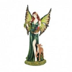 Figura Decorativa Resina Angel Bendicion de la cosecha 34 cm