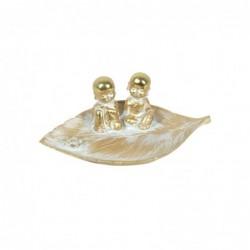 Figura Decorativa Resina Buda Hoja 24 cm