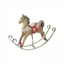 Figura Decorativa Resina Caballo Balancin 16 cm