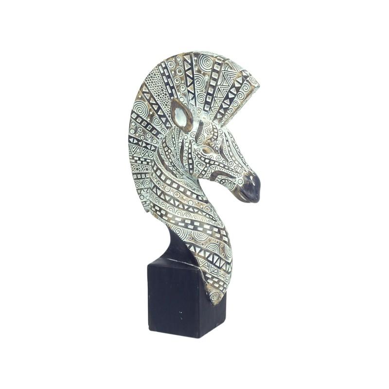 Figura Decorativa Resina Cabeza Zebra 30 cm