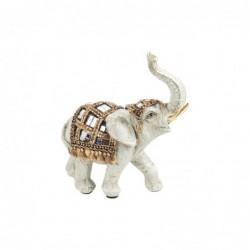 Figura Decorativa Resina Elefante Blanco 12 cm