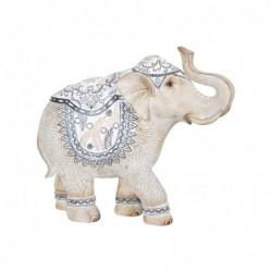 Figura Decorativa Resina Elefante Blanco 30 cm