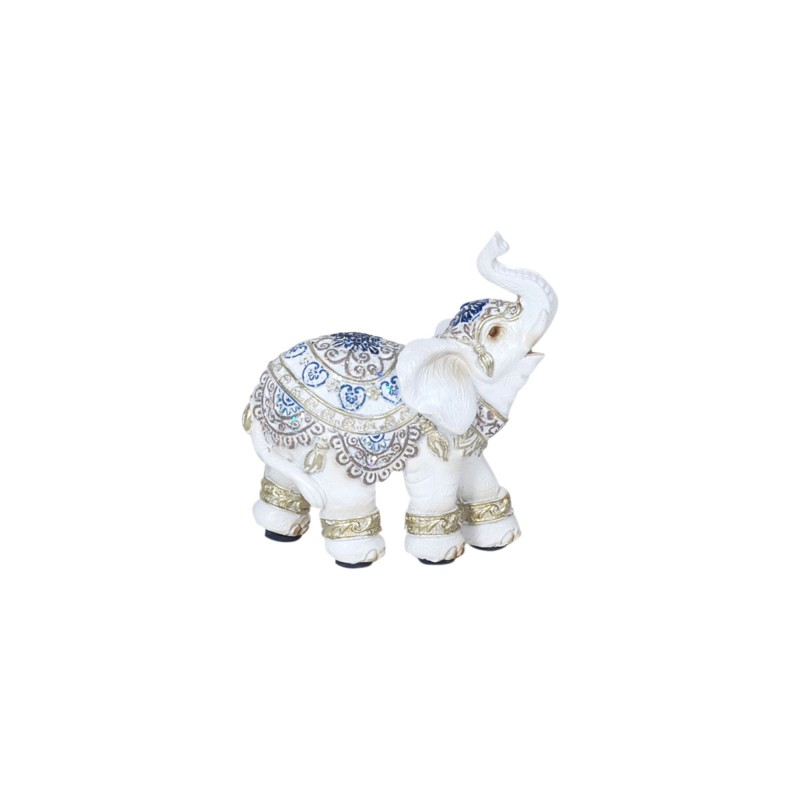 Figura Decorativa Resina Elefante Blanco 9 cm
