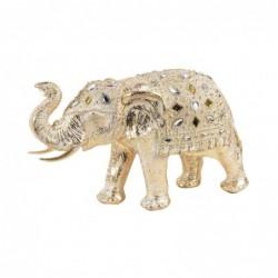 Figura Decorativa Resina Elefante Dorado 30 cm