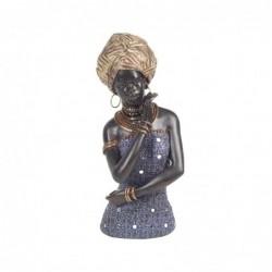 Figura Decorativa Resina Mujer Africana 27 cm