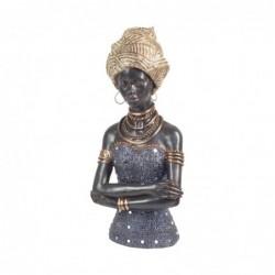 Figura Decorativa Resina Mujer Africana 32 cm