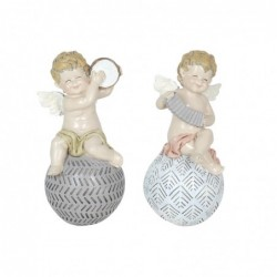 Figura Decorativa Resina x2 Angel 20 cm