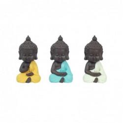 Figura Decorativa Resina x3 Buda 12 cm