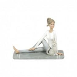 Figura Decorativa Resina Yoga 18 cm
