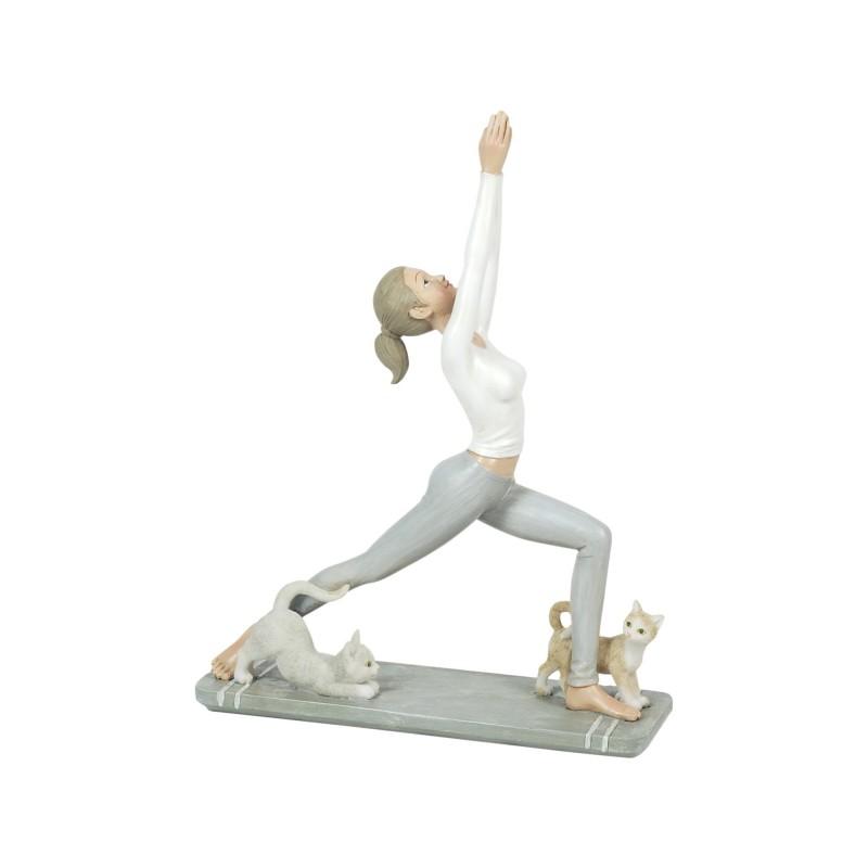 Figura Decorativa Resina Yoga 25 cm