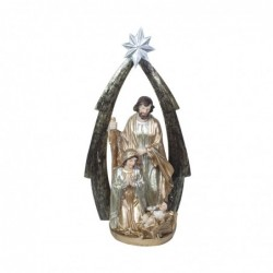 Figura Resina Navidad El Nacimiento 19 cm