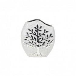 Jarron Decorativo Ceramica Arbol Gris 20 cm