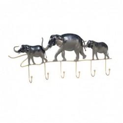 Perchero de Pared Metal Elefantes 63 cm