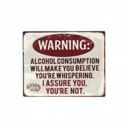 Placa de Pared Decorativa Warning Retro MEtal 25 cm