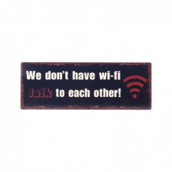 Placa de Pared Decorativa WIFI Retro Metal 36 cm