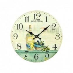 Reloj de Pared Madera Retro Aceite 34 cm