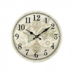Reloj de Pared Metal Mundo Retro 34 cm