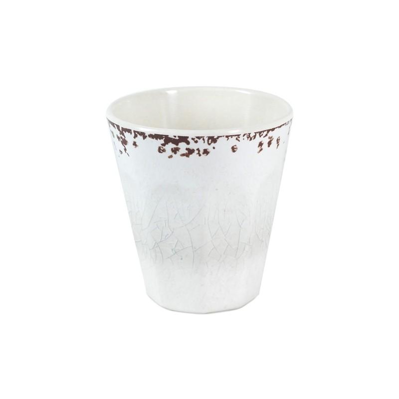 Vaso Resina blanco 9 cm