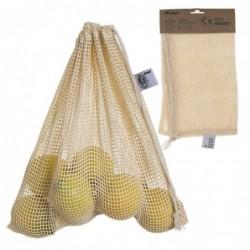 Bolsa de Compra Malla Para Fruta y Verdura Reutilizable 30x30 cm