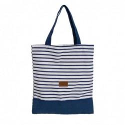 Bolsa de Playa Saint Tropez Rayas Azules 46 cm