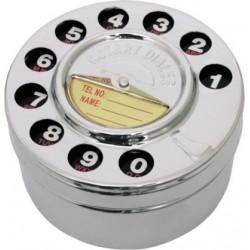 Cenicero Dial Telefono Plateado 9 cm