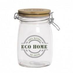 Bote Cristal Tapa Bambu Eco Life 15 cm