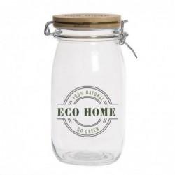 Bote Cristal Tapa Bambu Eco Life 20 cm