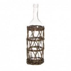 Botella Decorativa Mimbre 48 cm