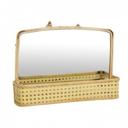 Espejo con Estante Ratan 30 cm