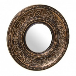 Espejo de Pared Redondo Bronce 39 cm