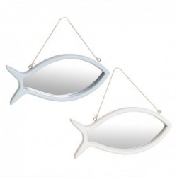 Espejo de Pared x2 Forma Pez 24 cm