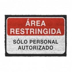 Felpudo Antideslizante Area Restringida 40x70 cm