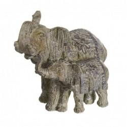 Figura Decorativa 2 Elefantes 26 cm
