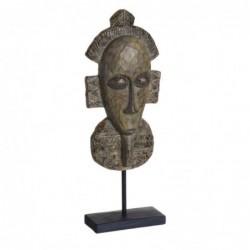 Figura Decorativa Africana Cara 39 cm
