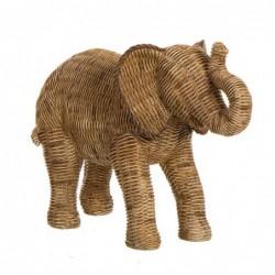 Figura Decorativa Elefante Efecto Ratan 33 cm