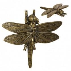 Figura Decorativa Libelula Oro 22 cm