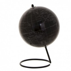 Globo Terraqueo Decorativo Negro 18 cm
