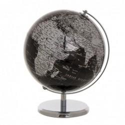 Globo Terraqueo Decorativo Plata 25 cm