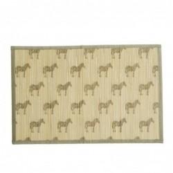 Mantel Individual Bambu Zebras 45 cm